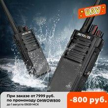 Walkie talkie étanche IP67 RETEVIS RT29 2 pièces UHF/VHF émetteur récepteur Radio bidirectionnel 10W pour ferme usine entrepôt 3KM