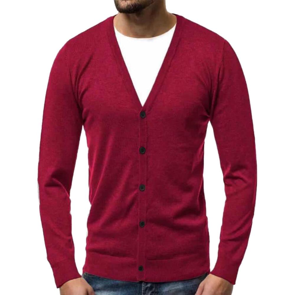 Men's Cardigan Sweater Jacket Autumn And Winter Warmer V-Neck Button Men's Sweater Cardigan Men кардиган мужской Y11.21
