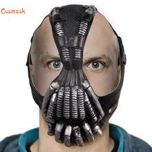 Cosmask Bane Mask Batman Latex Mask The Dark Knight  Cosplay Mask  Adult Size Lower Half Face Halloween Cosplay For Party