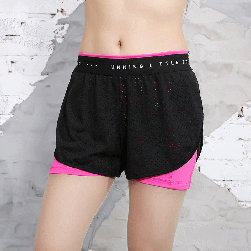 Summer Fitness Pants Women's Gym Running Pants Shorts Quick-drying Lady Clothing Slim Mesh Shorts