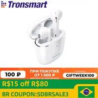 Tronsmart Onyx Ace Bluetooth 5,0 Kopfhörer Qualcomm aptX Drahtlose Ohrhörer Geräuschunterdrückung mit 4 Mikrofone, 24H Spielzeit
