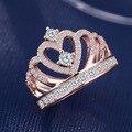 Новое поступление 2021, модное креативное обручальное кольцо в виде короны цвета розового золота и серебра для женщин, подарок для вечевечерн...
