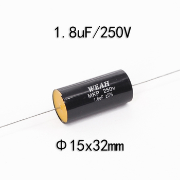 1pcs Polybine Capacitor Metal Film CBB Audio Capacitor Soundbox Frequency Division Capacitance 250V1.8uF image
