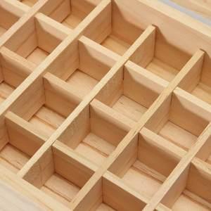 32 сетки Эфирное масло коробка из натурального дерева ароматерапия деревянная коробка сокровище хранения ювелирных изделий Органайзер ручной работы ремесло для домашнего декора