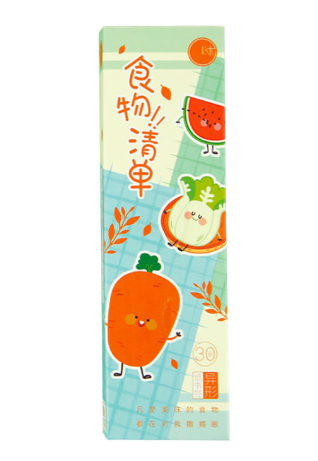 Food List Diy Paper Bookmark(1pack=30pieces)