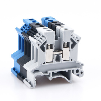 Din Rail Terminal Block UK-2.5B Wire Electrical Conductor Universal Connector Screw Connection Terminal Strip Block UK2.5 10Pcs tb1504 1pcs dual row barrier screw terminal block strip wire connector fixed wiring board 600v 15a
