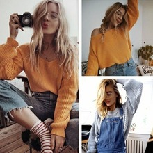 2019 autumn and winter sweater women word collar strapless long sleeve pullover