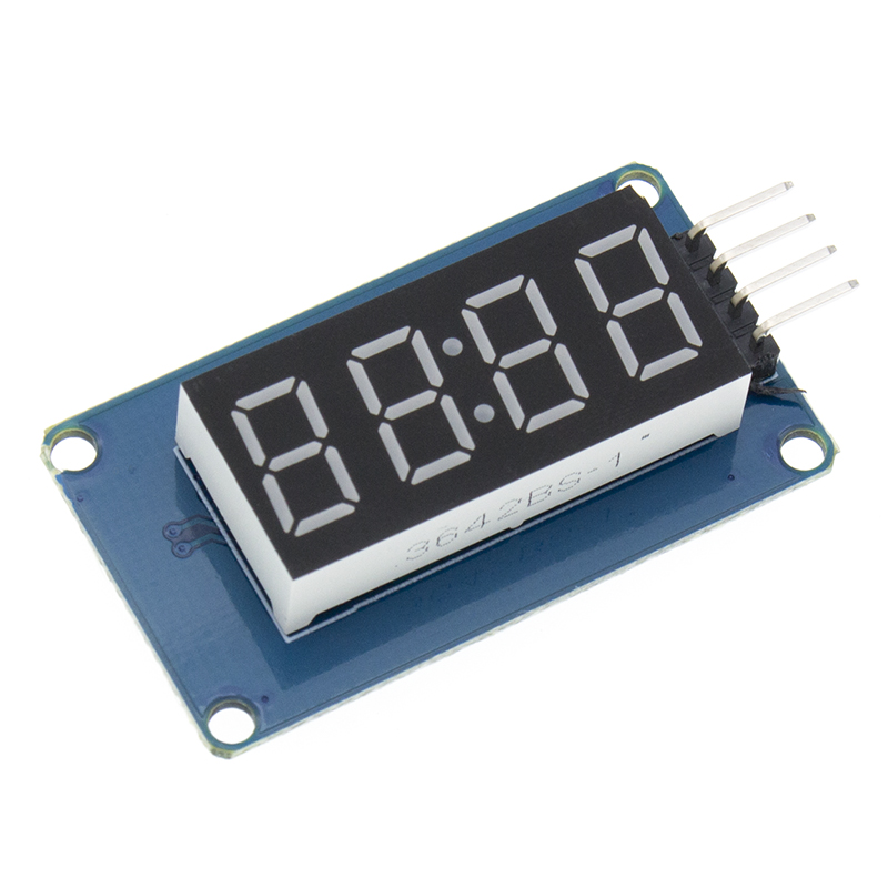 Image 4 - New 100pcs 4 Bits TM1637 Red Digital Tube LED Display Module & Clock LED-in Integrated Circuits from Electronic Components & Supplies
