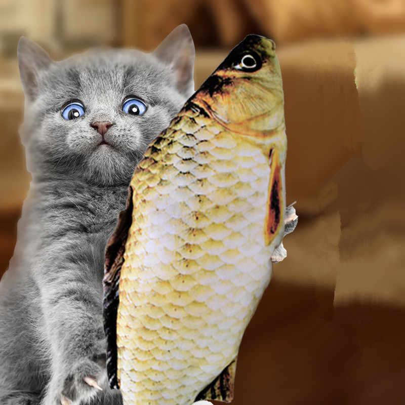 Pet miękki pluszowy 3D w kształcie ryby zabawka dla kota prezenty ryby kocimiętka zabawki wypchana poduszka lalka sztuczna ryba zabawka dla gryzaki Pet