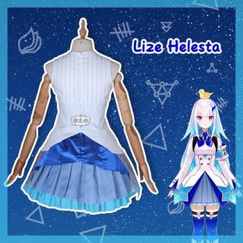 Hololive VTuber GAMERS YouTuber Lize Helesta Cosplay Costumes Women Cute Dress Top Skirts Coat Halloween Uniforms Custom Made 6