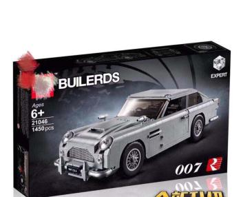 DHL LP 21046 Creator James Bond Famous Car Aston Martin DB5 Technic CAR Model Compatible hot weels 10262 Brick Building Block