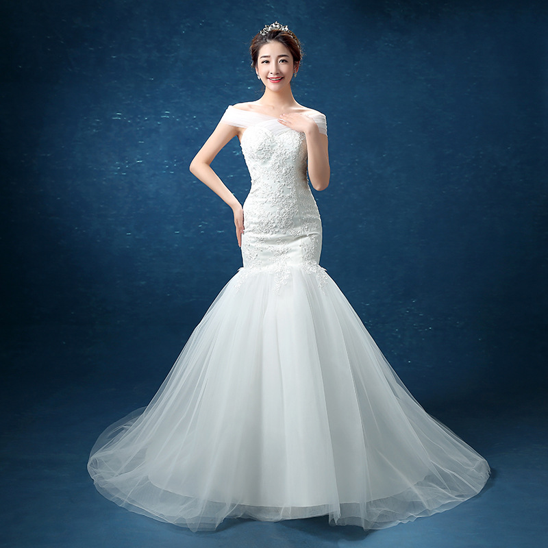 Sexy 2019 New Off the Shoulder Mermaid Wedding Dress Custom-Made Plus Size Bride African Wedding Gown Robe De Mariee