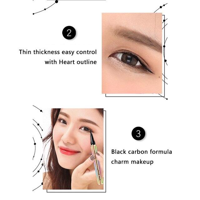 Cielo estrellado cielo delineador de ojos líquido vivo y grueso alargado delineador de ojos de larga duración impermeable delineador Natural maquillaje de ojos