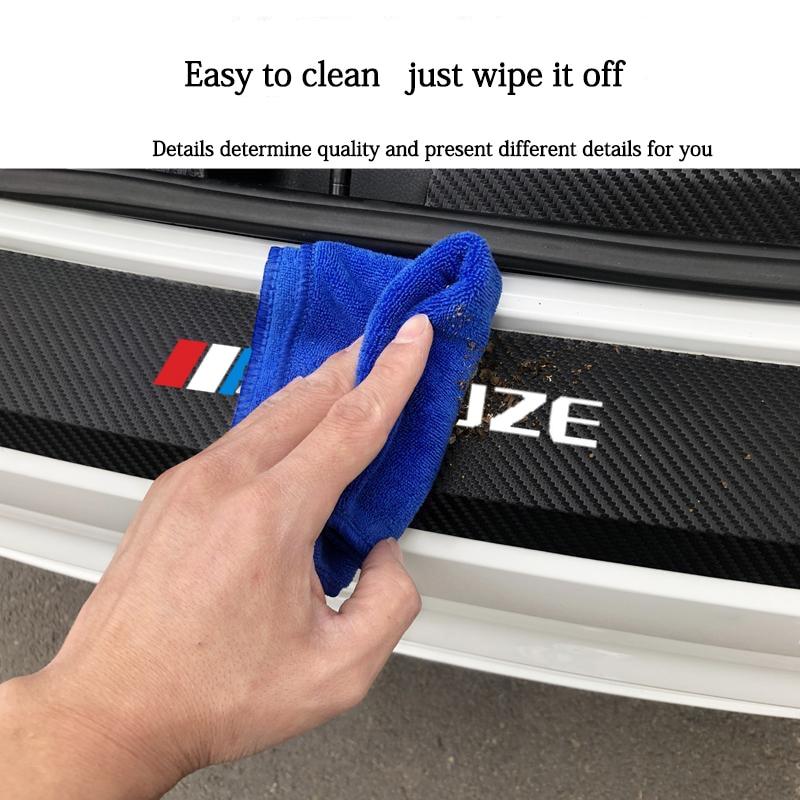 Новые защитные кожаные наклейки для заднего бампера автомобиля