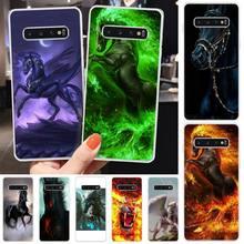 HaNismt Flying Horse Custom Photo Soft Phone Case For Samsung S6 S7 S7 edge S8 S8 Plus S9 S9 Plus S10 S10 plus S10 E(lite)