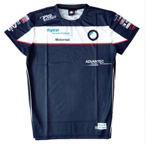 Мужская футболка для мотогонок, быстросохнущая футболка, одежда для Мотоцикла BMW, летние футболки для мотогонок GP, Tyco Motorrad