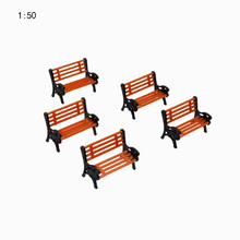 10PCS/LOT 1:50  HO Scale Park Garden Bench Model Landscape Scenery abs plastic model chairs