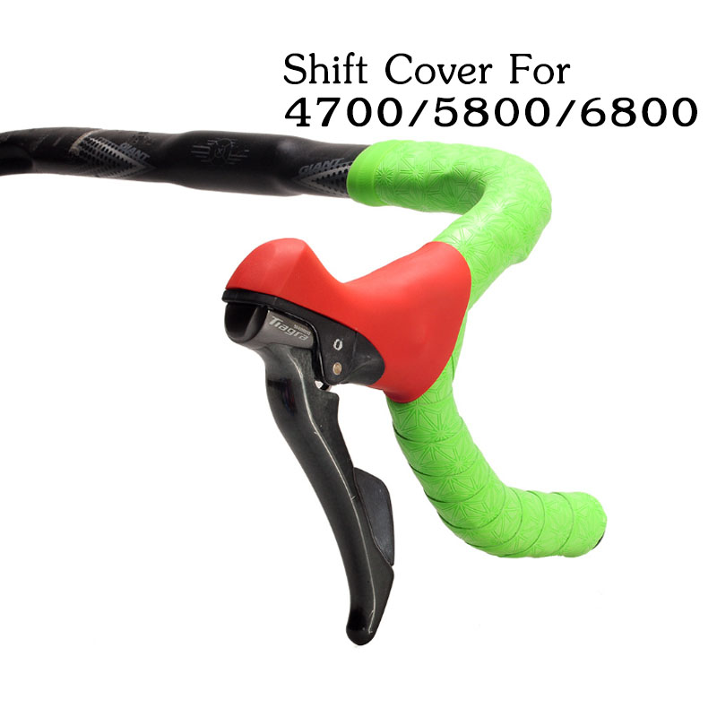 1 Pair Silica Gel Bicycle Manual Transmission Covers Hoods For <font><b>Shimano</b></font> <font><b>105</b></font> 4700/5800/6800 Road Bike Shift Levers Thin and Light image