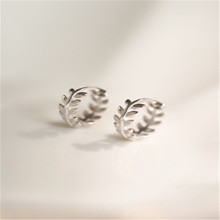 925 sterling silver Ear ring Sen is pure and fresh leaves Holiday gifts Womens fashion jewelry
