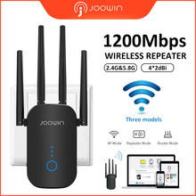 JW-WR758AC AC1200 Wifi Repeater 2.4G&5.8G DUAL band 1200Mbps Wifi Extender repetidor with 4 external antennas Long range routers(China)