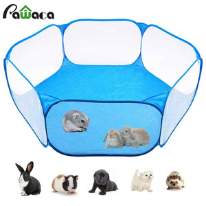 Pet Playpen Portable Pop Open Indoor / Outdoor Small Animal Cage Game Playground Fence for Hamster Chinchillas And Guinea- Pigs(China)