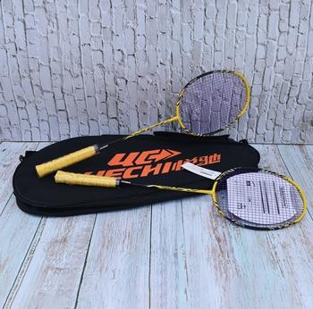 цена на YUECHI Gold Full Carbon Durable Badminton Racket Amateur Middle and Senior Badminton Racquet Ball Control Type Badminton Racket
