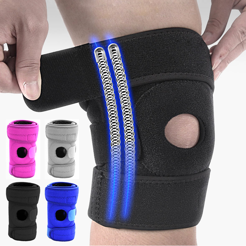 Adjustable Size Relieve Stress Knee Pad Bandage Sport Safety Protection Elastic Nylon Protector Fitness Elbow Support Braces