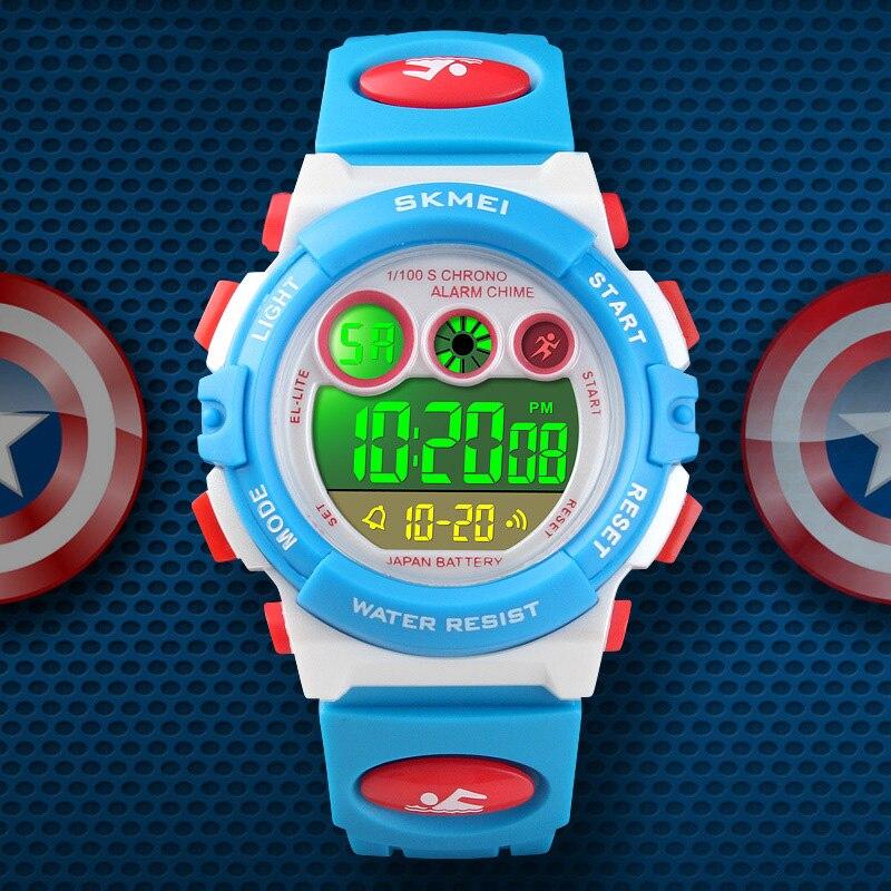 TurnFinger Children% 27s Цифровой Часы Цветной LED Световой Прозрачный Индивидуальный Открытый Спорт Многофункциональный Мода Роскошь