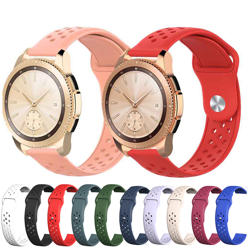 Silicone For22mm Samsung Galaxy Watch 46mm/gear S3 Band Strap For Huami Amazfit GTR 42mm/s2 Sport 20mm Smart Bracelet Watchstrap