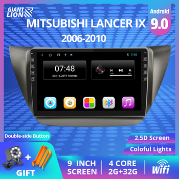 9'' 2din Android 9.0 Car Radio For MITSUBISHI LANCER IX 2006-2010 GPS Navigation Multimedia Video Player Car DVD Stereo receiver
