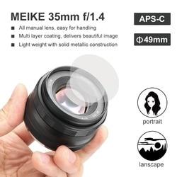 Meike MK-35-1.4 35mm f1.4 Large Aperture Manual Focus lens APS-C for Sony NEX3/3N/5/5T/5R/5N/NEX6/7/a5000/a5100/a6000/a6300