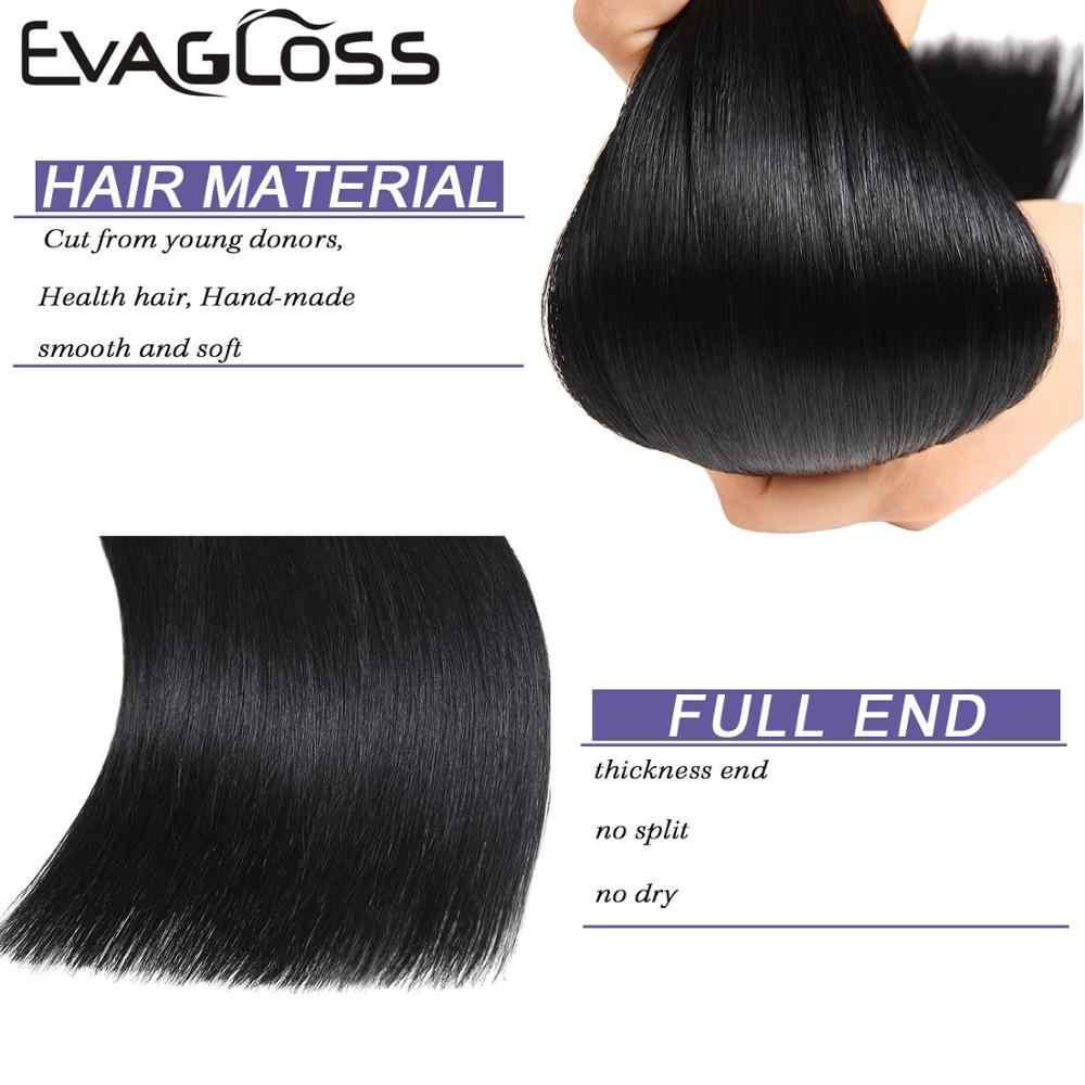 Evagloss Tape In Human Hair Extensions Europese Machine Remy 20Pcs Straight Lijm Huid Inslag Tape In Extensions Menselijk Haar