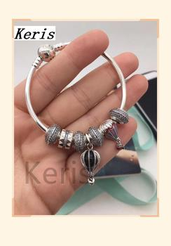 High Quality Copy 1:1 100%926 Pure Silver Hot Air Balloon String Bracelet First Choice For Gift Free Package