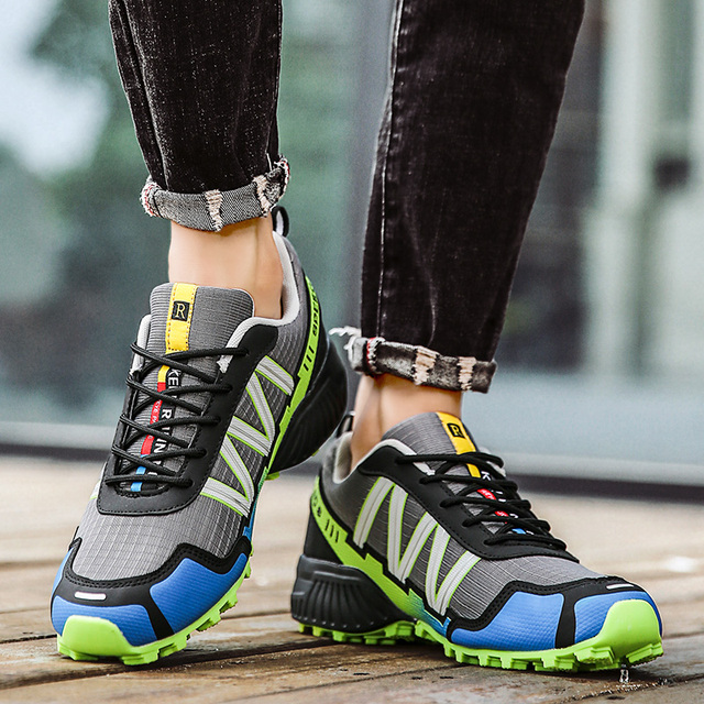 SMS Men Outdoor Hiking Shoes Climbing Sport Breathable Sneakers Tactical Hunting Trekking Shoes Summer Mesh Anti-skid Trainers 4