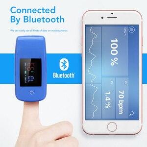 Image 2 - OLIECO Finger Bluetooth APP Pulse Oximeter Mini Finger SPO2 PR Oximetro Household Digital Oxygen Saturation Meter Portable