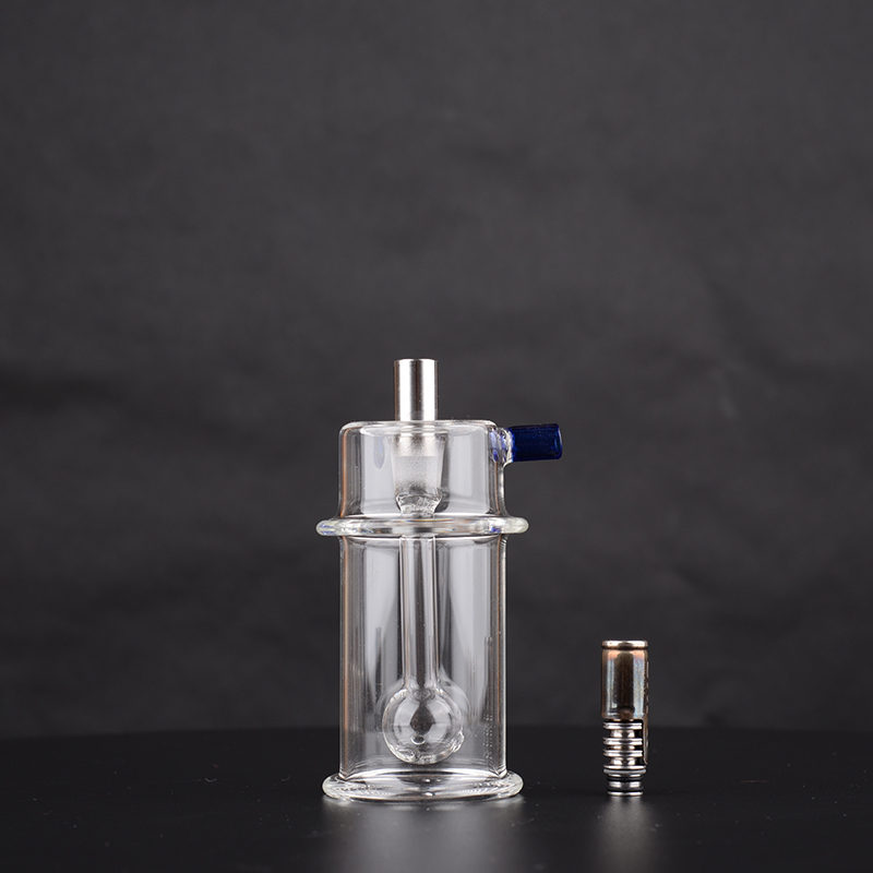 """Mini Bong – Bubbler water filter with stainless sdapter for DynaVap THE """"M"""" 2020 and 2021 edition with 10mm tapered mouthpiece 4"""