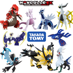 takara tomy tomica moncolle pocket monster figure puppet pokemon figures baby toys black kyurem gradon mewtwo diecast resin doll(China)