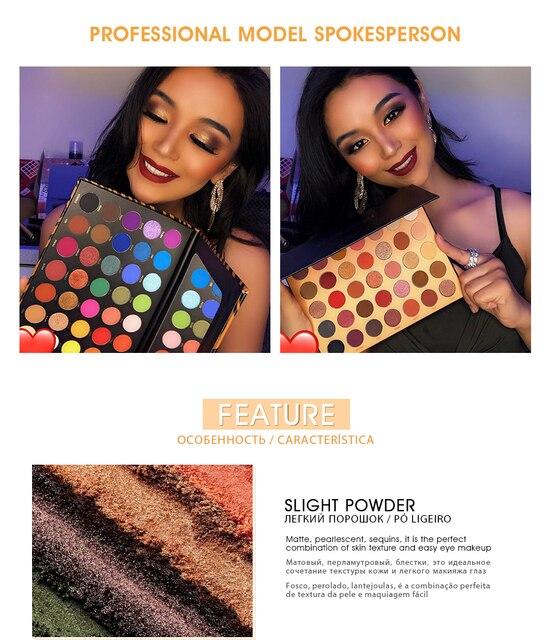 IMAGIC New35C Eye Shadow Flash Eyeshadow Makeup Pallete Matte Eye Shadow Palette Nude Makeup Set Cosmetic Powder Pigment neon 5