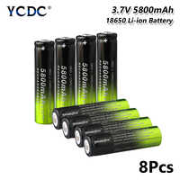 Rechargeable High quality 18650 Battery 3.7V 5800mAh For electronic cigarette lithium bateria power high discharge large current