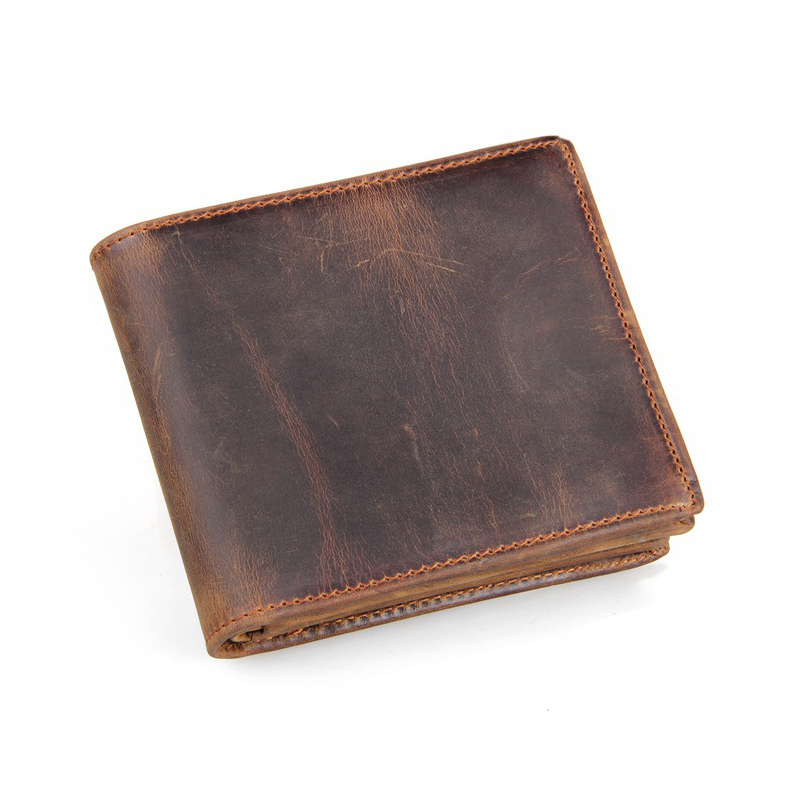 Leather long wallet unisex…