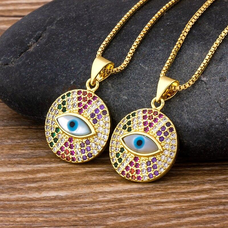 Женское ожерелье с подвеской в форме глаза радуги, массивное ожерелье из меди и циркона, ювелирные изделия с чокерами