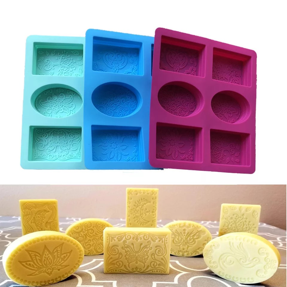 6 holes 3D Silicone Molds for Soap Making Soap Mold Leaves Soap Making Molds Candle Mold DIY Cake Decorating Tool Handmade Craft