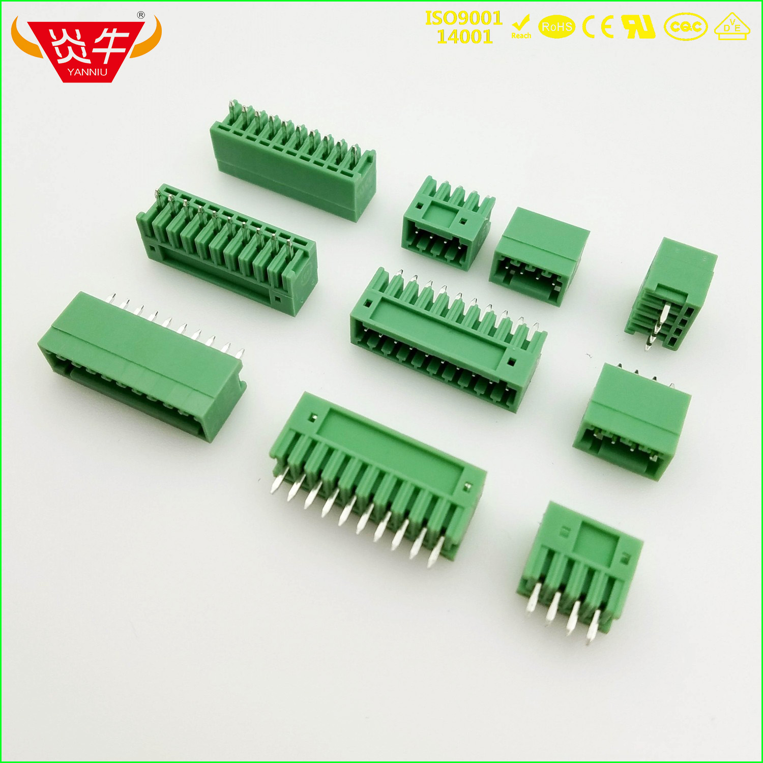 KF2EDGV 3.81mm 2//3//4//5//6P Male Straight Pin Socket Electrical Terminal Connector