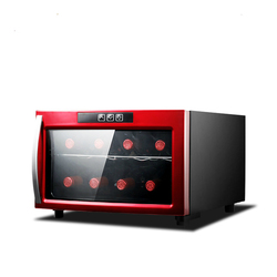 2 Layers Anti-UV Minil Wine Refrigerator Adjustable Thermostat Wine Cooler Freezers Mini Refrigerated Cigar Cabinet Tea Cabinet