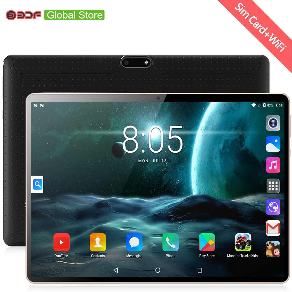 חדש מקורי 10 אינץ Tablet Pc אוקטה Core 3G שיחת טלפון Google שוק GPS WiFi FM Bluetooth 10.1 טבליות 4G + 64G אנדרואיד 7.0 tab