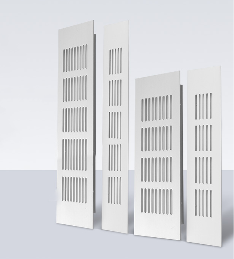50/80mm Wide Vents Perforated Sheet Aluminum Alloy Air Vent Perforated Sheet Web Plate Ventilation Grille Vents Perforated Sheet