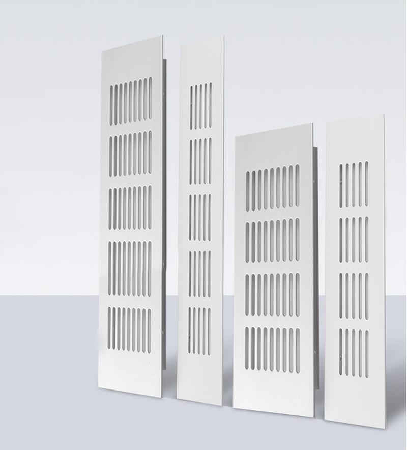 Rejillas de ventilación de 50/80mm de ancho, lámina perforada de aleación de aluminio para ventilación de aire, placa Web, rejillas de ventilación, hoja perforada