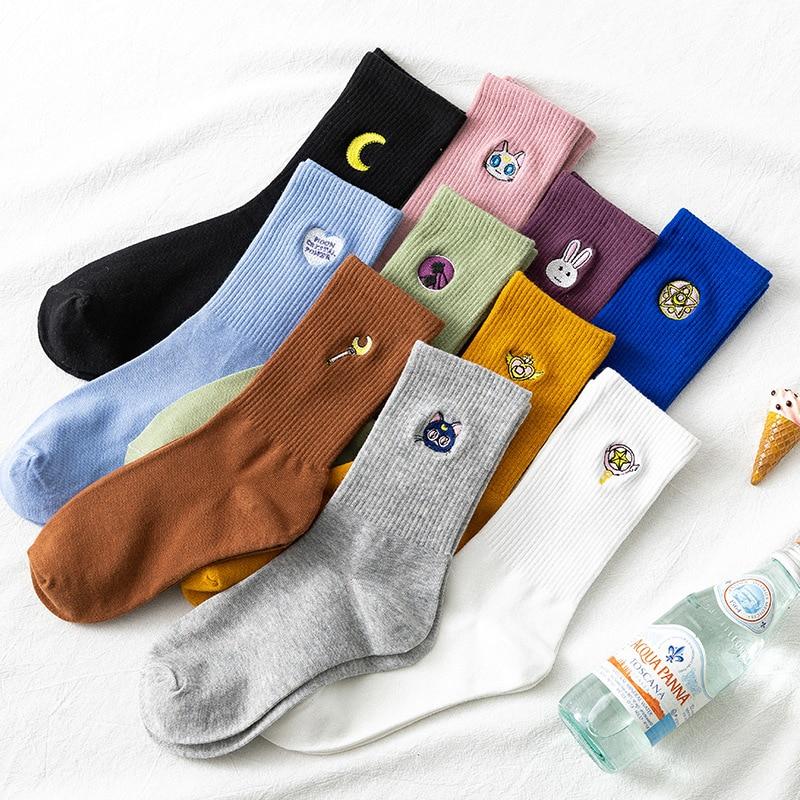 Осень-зима Японский вырезать Ins; Леггинсы для диких личностей! Street корейский Стиль носки для женщин и мужчин, Модные дышащие носки Dropp достав...