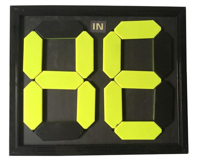 Два четыре замена карты 2 a 4-разрядный табло Футбол Баскетбол Замена карточная игра двойные Цвет флуоресцентный шрифт