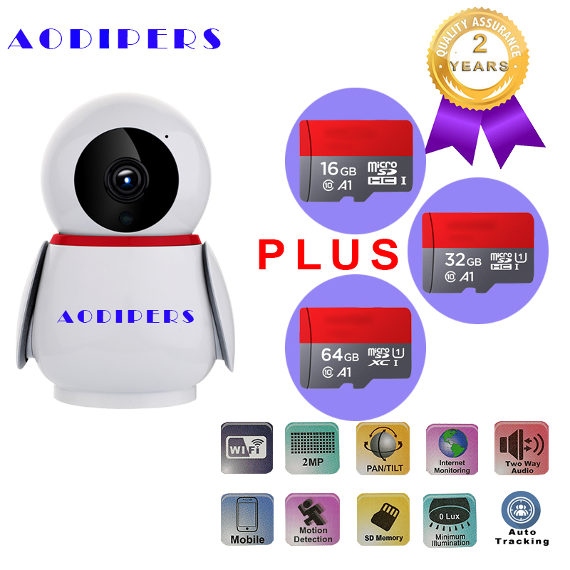 1080P WIFI Camera Wireless PTZ Home Security Camera Support Onvif H.264 Infrared 3.6 mm lens auto track CCTV Camera Baby Monitor